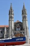 Marinmuseum (Museu de Marinha) i Lissabon, Portugal royaltyfria bilder