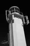 Marino Navigation Aid. A black and white photograph of the navigation aid at Marino, Adelaide, South Australia stock images