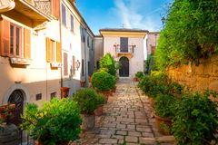 marino SAN Ιταλία Παλαιό κέντρο της πόλης του Άγιου Μαρίνου Στοκ φωτογραφίες με δικαίωμα ελεύθερης χρήσης