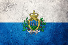 marino SAN σημαιών grunge Σημαία του Άγιου Μαρίνου με τη σύσταση grunge Στοκ εικόνες με δικαίωμα ελεύθερης χρήσης