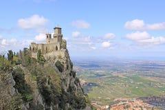 marino san Sanmarinsk slott (fästningen av Guaita) Arkivfoto
