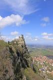 marino san Sanmarinsk slott (fästningen av Guaita) Arkivfoton