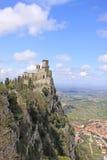 marino san Sanmarinsk slott (fästningen av Guaita) Fotografering för Bildbyråer