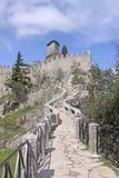 marino san Sanmarinsk slott (fästningen av Guaita) Royaltyfri Bild
