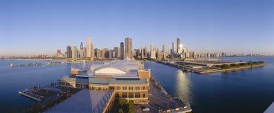 Marinpir i Chicago Fotografering för Bildbyråer