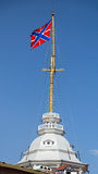 MarinRyssland flagga Arkivfoto