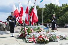 Marins de parade Gdynia de marine Photographie stock