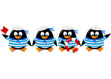 Marins mignons de pingouin illustration de vecteur