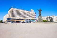 Marinsen parkerar hotellet Fotografering för Bildbyråer