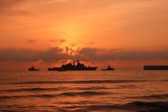 Marinskepp på havet royaltyfri bild