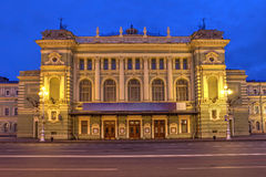 Marinsky Theatre, Saint Petersburg, Russia. Marinsky Theatre and Opera House in Saint Petersburg, Russia during the twilight of the June's white nights Royalty Free Stock Photography