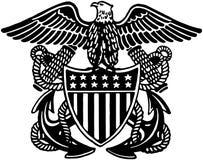 Marintjänsteman Crest Arkivfoto
