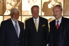 Mario Adorf, Bernd Neumann, Klaus Staeck Royalty-vrije Stock Afbeelding
