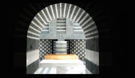 Mario Botta,  Church Altar. The altar of the church designed by Mario Botta in Mogno Switserland Royalty Free Stock Image