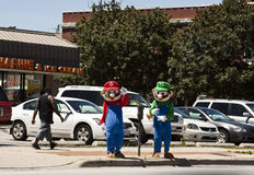 Mario Bros en Luiggy stock foto's
