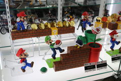 Mario Bros super Bonecos de ação Imagens de Stock Royalty Free