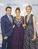 Mario Cantone, Sarah Jessica Parker, en Cynthia Nixon Stock Fotografie