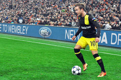 Mario Götze with ball Stock Photography