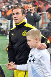 Mario Götze and child Royalty Free Stock Images