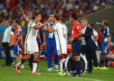Mario Götze and Miroslav Klose Coupe du monde 2014 Stock Photo