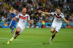 Mario Götze and Thomas Muller Coupe du monde 2014 Stock Image
