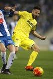 Mario Gaspar dei CF di Villareal Immagine Stock
