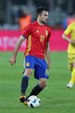 Mario Gaspar Perez. Martinez defender of the Spanish National Football Team, pictured during the friendly match between Romania and Spain, played at Cluj Arena stock photo