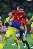 Mario Gaspar Perez. Martinez defender of the Spanish National Football Team, pictured during the friendly match between Romania and Spain, played at Cluj Arena stock photography