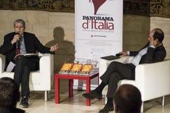 Mario giordano an marco cobianchi Royalty Free Stock Image