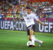 Mario Gomez of Germany controls a ball Royalty Free Stock Images