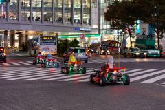Mario kart στην περιοχή Shibuya στο Τόκιο, Ιαπωνία στοκ εικόνα