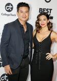 Mario Lopez and Courtney Laine Mazza stock image