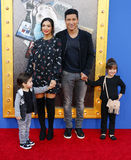 Mario Lopez and Courtney Laine Mazza Stock Images