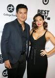 Mario Lopez and Courtney Laine Mazza royalty free stock photos