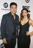 Mario Lopez and Courtney Laine Mazza royalty free stock images