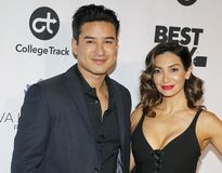 Mario Lopez et Courtney Laine Mazza images libres de droits
