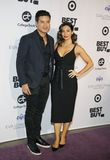 Mario Lopez et Courtney Laine Mazza photographie stock