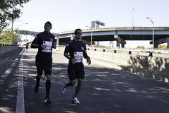 Mario Lopez runs the 2011 New York City Marathon royalty free stock image
