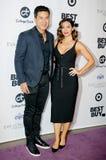 Mario Lopez und Courtney Laine Mazza lizenzfreie stockfotografie