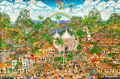 Mario Marin painting called Fiestas patronales de Boaco Royalty Free Stock Photography