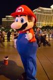 Mario superbe et l'hôtel de casino de Bellagio Images libres de droits