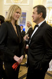 Mario Testino en Eva Herzigova Royalty-vrije Stock Fotografie