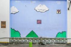 Mario uliczny malowidło ścienne malował Mohd Azizib Mohd Azhar w ulicznej sztuce w Shah Alam Zdjęcie Stock