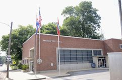 Marion Arkansas City Hall. Marion is a city in and the county seat of Crittenden County, Arkansas, United States. The population was 12,345 at the 2010 census royalty free stock photo
