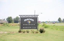 Marion, Arkansas van Crittenden-Provincie royalty-vrije stock foto