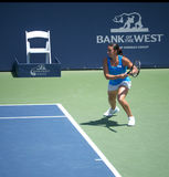 Marion Bartoli at Bank of the West finals. Marion Bartoli played Serena Williams at the finals of Bank of the West tournament Stock Photos