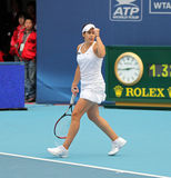 Marion Bartoli (France) celebrates a point Royalty Free Stock Photos