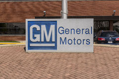 Marion - Circa April 2017: General Motors Logo and Signage at the Metal Fabricating Division. GM opened this plant in 1956 III Stock Image