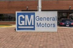 Marion - Circa April 2017: Het Embleem en Signage van General Motors bij het Metaal die Afdeling vervaardigen GM opende deze inst Stock Afbeelding