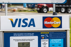Marion - Circa April 2017: VISA and MasterCard Logo. VISA and MasterCard offer many payment products worldwide I Stock Photo